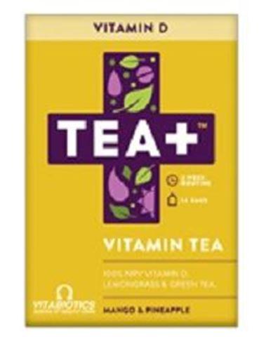 Vitabiotics TEA+ Vitamin D Vitamin Infused Tea 14 Bags