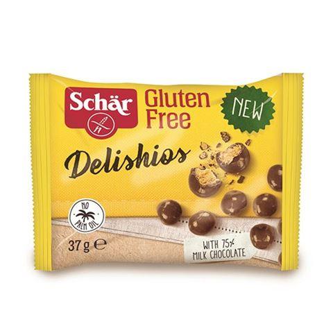 Dr Schar Τραγανές Μπαλίτσες Δημητριακών με Επικάλυψη Σοκολάτας χωρίς Γλουτένη 37gr