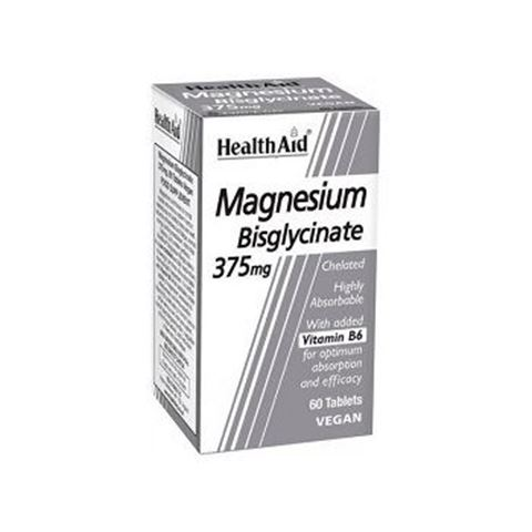 Health Aid Magnesium Bisglycinate 375mg, 60tabs