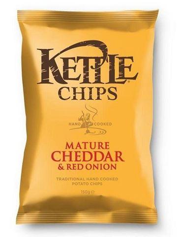 Kettle Τσιπς Τσένταρ & Κόκκινο Κρεμμύδι 150gr