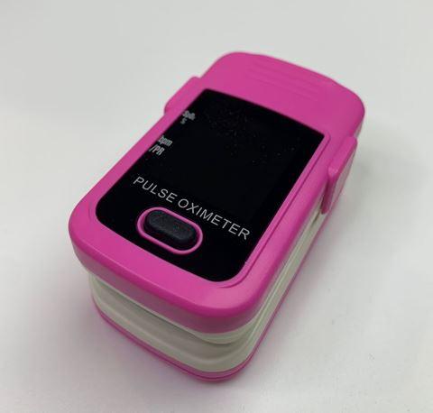 Παλμικό οξύμετρο δακτύλου Χ004C, σε χρώμα Ροζ