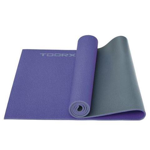 Στρώμα Yoga MAT-177 Μωβ/Γκρι Toorx (173 x 60 x 0,6 cm), 10-432-188