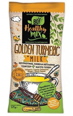Βιολογικό Ρόφημα Healty Mix Golden Turmeric Milk Κουρκουμάς BDL 120gr