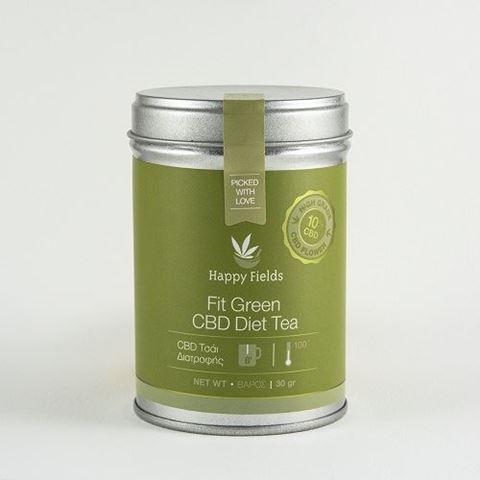 Happy Fields Fit Green CBD Diet Tea – Τσάι Διατροφής, 30gr