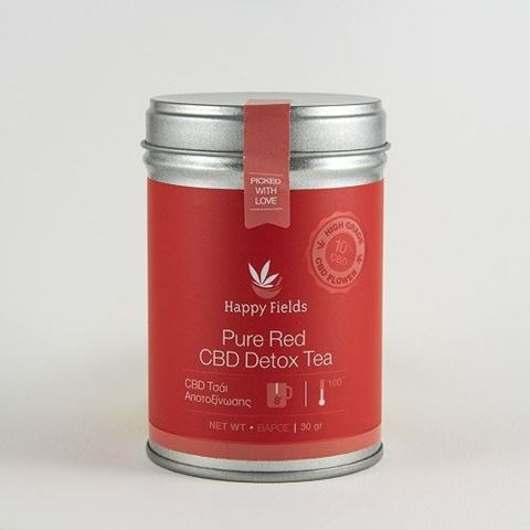 Happy Fields Pure Red CBD Detox Tea - Τσάι Αποτοξίνωσης, 30gr