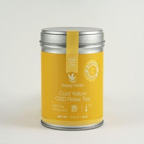 Happy Fields Cool Yellow CBD Relax Tea - Τσάι Χαλάρωσης, 30gr