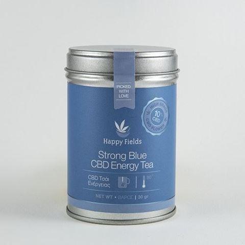 Happy Fields Strong Blue CBD Energy Tea – Τσάι Ενέργειας, 30gr