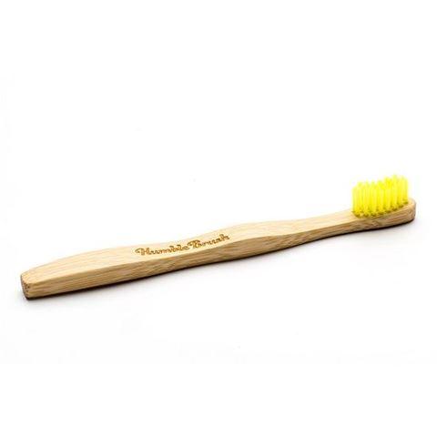 The Humble Co. Οδοντόβουρτσα από μπαμπού - Ενηλίκων Κίτρινη - Μέτρια