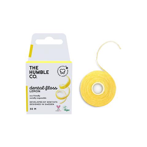 The Humble Co. Οδοντικό νήμα καθαρισμού 50μ -  Lemon