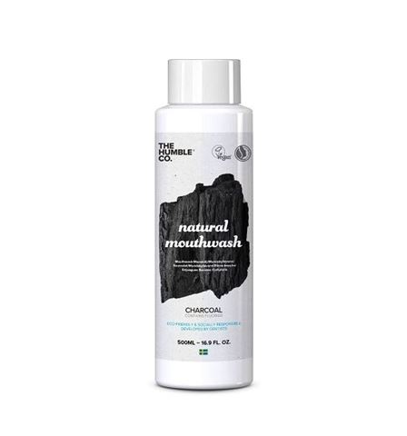 The Humble Co. Natural Mouthwash 500ml - Charcoal