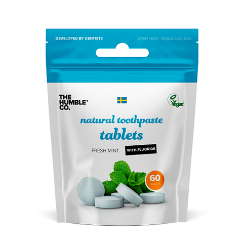 The Humble Co. Natural Toothpaste Tabs With Fluoride - 60 Pack - Fresh Mint