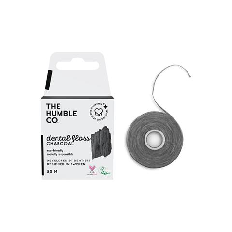 The Humble Co. Οδοντικό νήμα καθαρισμού 50μ -  Charcoal
