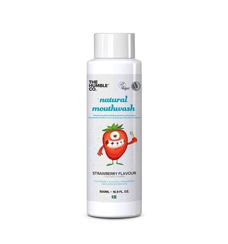 The Humble Co. Natural Mouthwash 500ml - Kids Strawberry