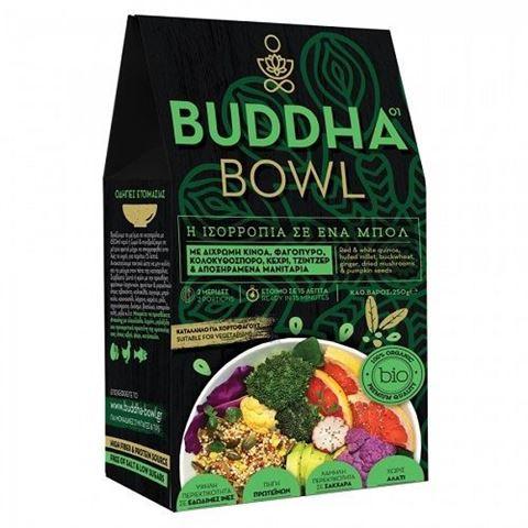 Buddha Bowl με Δίχρωμη Κινόα, Φαγόπυρο, Κολοκυθόσπορο, Κεχρί, Τζίντζερ & Αποξηραμένα Μανιτάρια 250gr