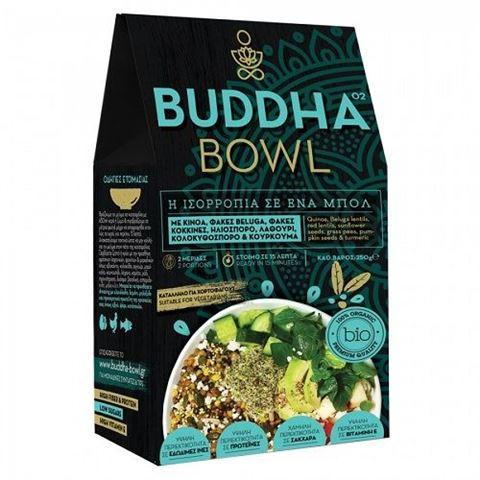 Buddha Bowl με Κινόα, Μαύρες Φακές Beluga, Φακές κόκκινες, Ηλιόσπορο, Λαθούρι, Κολοκυθόσπορο & Κουρκουμά 250gr