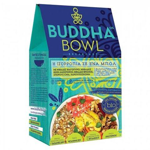 Buddha Bowl Breakfast με Νιφάδες Φαγόπυρο, Νιφάδες Κεχρί, Ηλιόσπορο, Νιφάδες Βρώμης, Σπόρους Chia, Χαρουπόσκονη 250gr