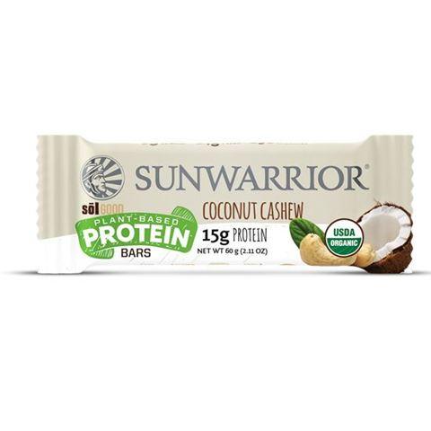 """Sunwarrior Μπάρα Πρωτεϊνης με Καρύδα & Κάσιους """"Coconut Cashew"""" 60gr"""