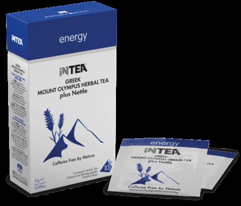 INTEA Ελληνικό Τσάι του Βουνού Ολύμπου Energy, με Τσουκνίδα, 10 φακελάκια