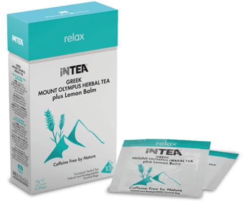 INTEA Ελληνικό Τσάι του Βουνού Ολύμπου Relax, με Μελισσόχορτο, 10 φακελάκια