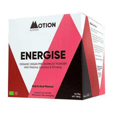 Motion Nutrition Vegan Μείγμα Υπερτροφών για Ενέργεια Πριν την Προπόνηση 180gr