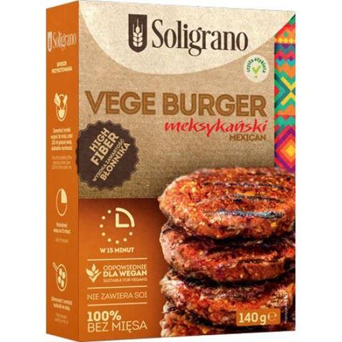 Soligrano Vege Burger Μεξικάνικο Μπιφτέκι Για Χορτοφάγους 140gr