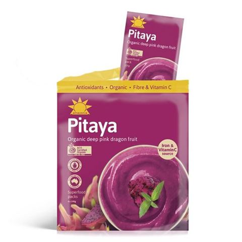 Amazonia Ροζ Pitaya (Φρούτο του Δράκου) Χωρίς Γλυκαντικά σε Μορφή Πολτού 4 Χ 100gr