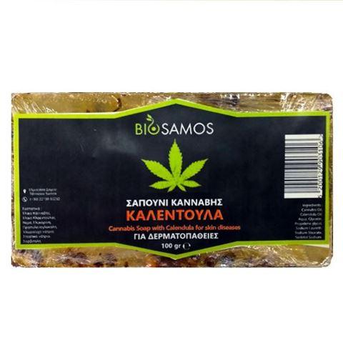 Bio Samos Σαπούνι Κάνναβης με Καλέντουλα 100gr