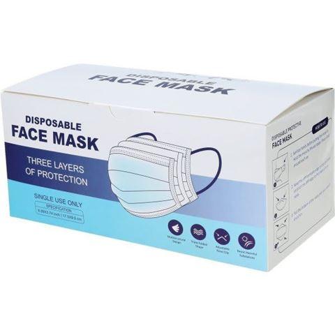 Μάσκα Προσώπου Προστατευτική μιας χρήσης, Box 50τμχ