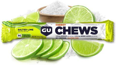 GU Μασώμενα Ενεργειακά Καραμελάκια CHEWS - Γεύση Salted Lime - χωρίς καφεΐνη
