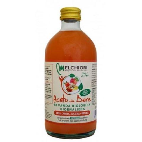 Melchiori Μηλόξυδο Πόσιμο Καρότο Τζίντζερ Κουρκουμά ΒΙΟ 520ml