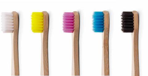 The Humble Co. Οδοντόβουρτσα από μπαμπού - Ενηλίκων Κίτρινη - Sensitive