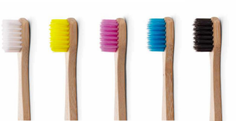 The Humble Co. Οδοντόβουρτσα από μπαμπού - Ενηλίκων Μωβ - Sensitive