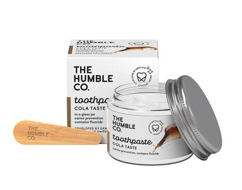 The Humble Co. Φυσική Οδοντόκρεμα σε γυάλινο βάζο με σπάτουλα - Cola, 50ml