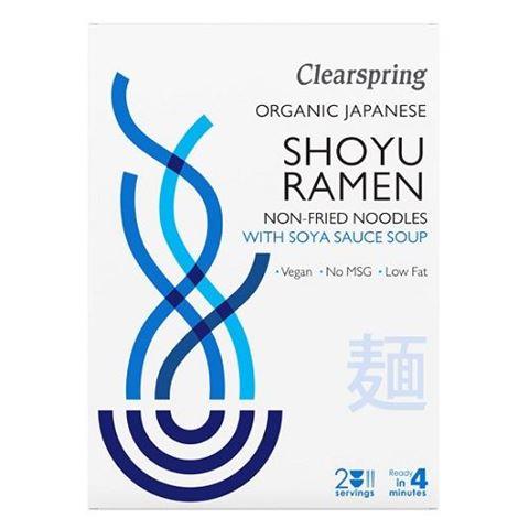 Clearspring Shoyu Ramen, Bάση Σούπας με Σάλτσα Σόγιας & Noodles (στον ατμό) 210gr