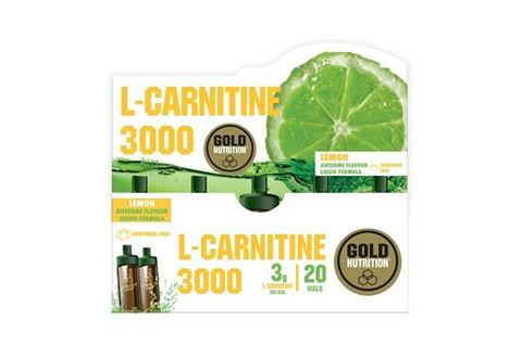 Gold Nutrition L-Carnitine Lemon 3000mg 20 φιαλίδια