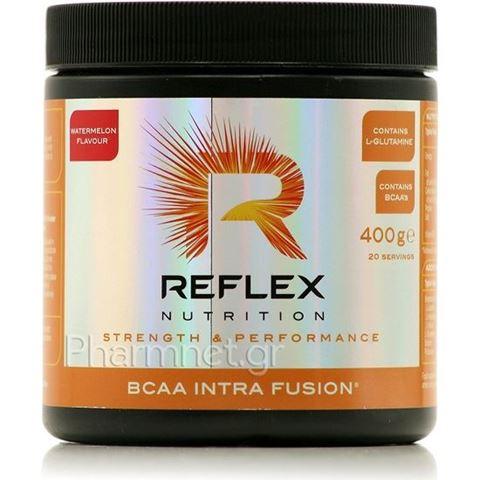 Reflex BCAA Intra Fusion Watermelon - Φόρμουλα Αμινοξέων και Ηλεκτρολυτών, Γεύση Καρπούζι, 400gr