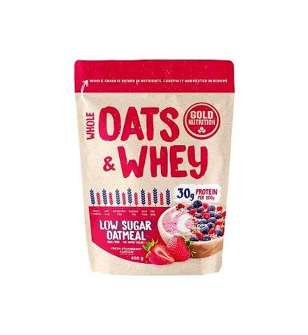 Gold Nutrition Oats & Whey Strawberry 400gr
