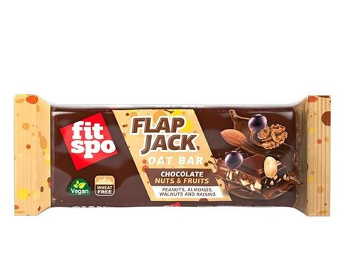 Fit Spo Μπάρα βρώμης FLAPJACK Chocolate Nuts & Fruits 100gr