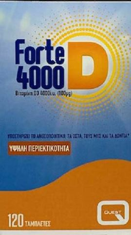 Quest Forte D 4000, 120 Ταμπλέτες