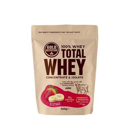 Gold Nutrition Total Whey Strawberry Banana 260gr