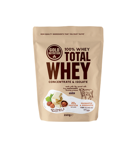 Gold Nutrition Total Whey White Chocolate Hazelnut  260gr