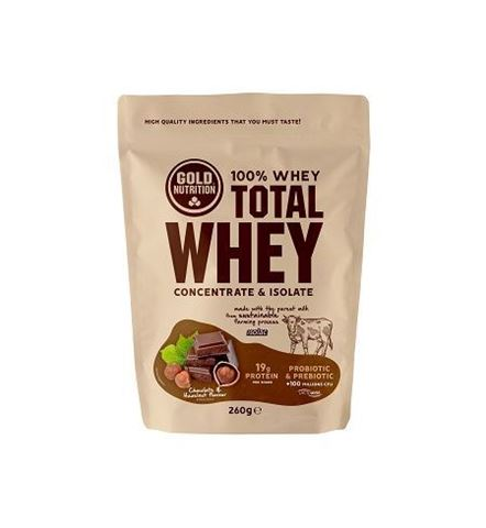 Gold Nutrition Total Whey Chocolate Hazelnut 260gr
