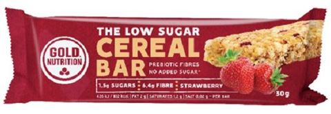 Gold Nutrition Low Sugar Cereal Bar Strawberry 30gr
