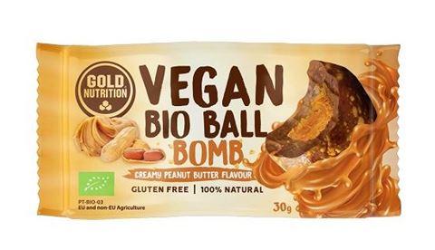 Gold Nutrition Vegan Bio Ball Energy Φυστικοβούτυρο με Αλάτι 30gr