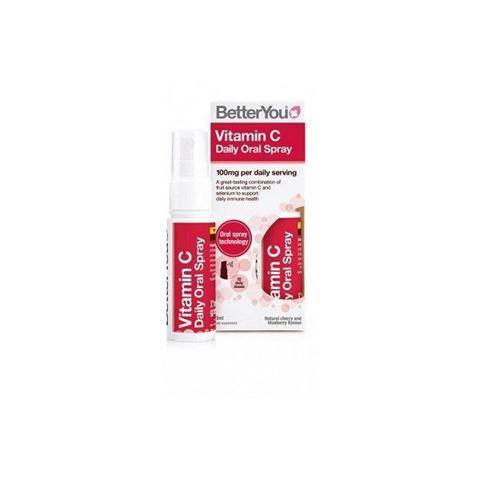 BetterYou Vitamin C Daily Oral Spray Υπογλώσσιο spray C, 25ml, 128 Ψεκασμούς