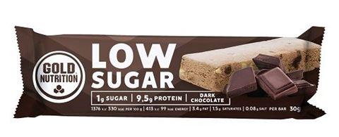 Gold Nutrition Protein Bar Low Sugar Dark Chocolate 30gr