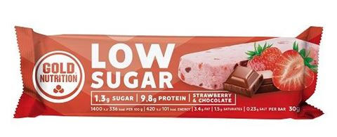 Gold Nutrition Protein Bar Low Sugar Strawberry and Chocolate 30gr