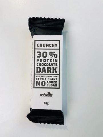 Naturals Crunchy 30% Protein Dark Chocolate, 40gr