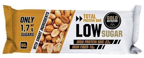 Gold Nutrition Total Protein Low Sugar Bar Crunchy Peanut 60gr