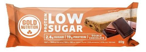 Gold Nutrition Total Protein Low Sugar Bar Double Chocolate 60gr